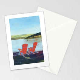 lakeview chairs - by phil art guy Stationery Cards