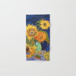 Van Gogh, Five Sunflowers 1888 Artwork Reproduction, Posters, Tshirts, Prints, Bags, Men, Women, Kid Hand & Bath Towel