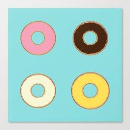 Four Doughnuts Canvas Print