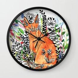 Tatoo fox Wall Clock