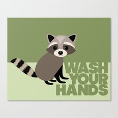 Kids' Bathroom - Wash Your Hands Canvas Print