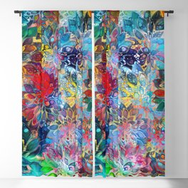 Floral Abstract 39 Blackout Curtain