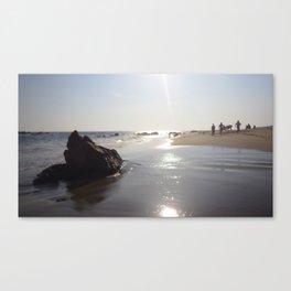 Boys on the beach Canvas Print