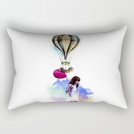 Girl and the balloon Rectangular Pillow