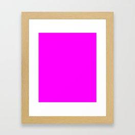 Fuchsia - solid color Framed Art Print