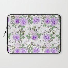 Purple Roses, Shabby Floral Laptop Sleeve