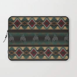 southwest stripe with horses Laptop Sleeve