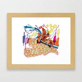 Buy high, sell higher Framed Art Print