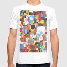 Microcosm Collage MEDIUM White Mens Fitted Tee