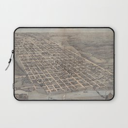Vintage Pictorial Map of Austin Texas (1873) Laptop Sleeve