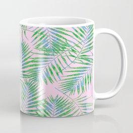 Fern Leaves Pink Coffee Mug