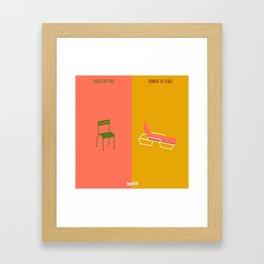 Chaise VS Transat (Paris VS Marseille) Framed Art Print