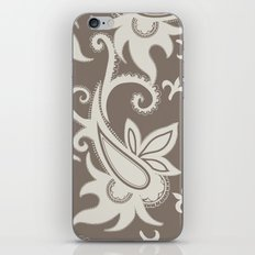 Paisley: Taupe  iPhone Skin