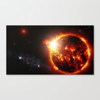 planet Canvas Prints featuring Galaxy : Red Dwarf Star by 2sweet4words Designs