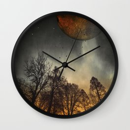 when the moon was young Wall Clock