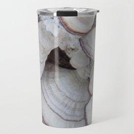 Purple and White  Bracket Fungus Travel Mug