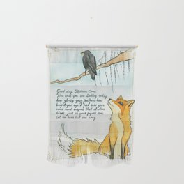 The Fox and the Crow Wall Hanging