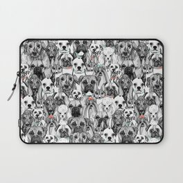 just dogs coral mint Laptop Sleeve