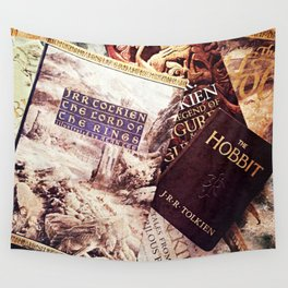 Tolkien Books Wall Tapestry