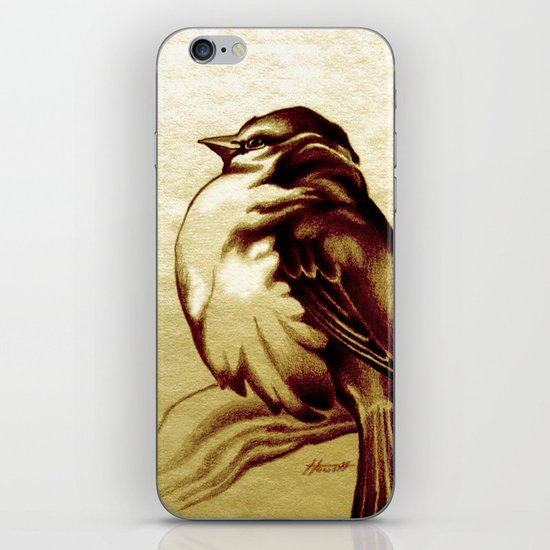 Sparrow in the Cold iPhone & iPod Skin