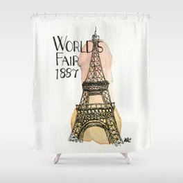 c'est l'amour Shower Curtain