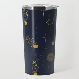 Golden Fireflies Constellations Travel Mug