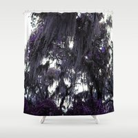 spanish Shower Curtains featuring Spanish Moss by Heidi Ingram