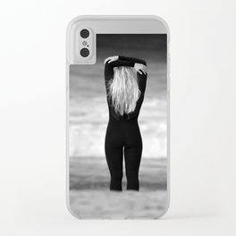 Surfer girl. Clear iPhone Case