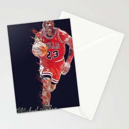 basketball player art 16 Stationery Cards