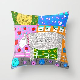 Love Sheep Throw Pillow