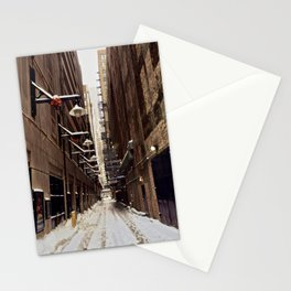 Chicago Winter Alley Stationery Cards