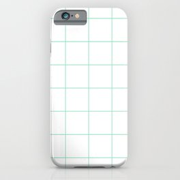Graph Paper (Mint & White Pattern) iPhone Case