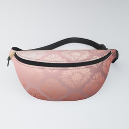 """Millennial Pink Damask Pattern"" Fanny Pack"