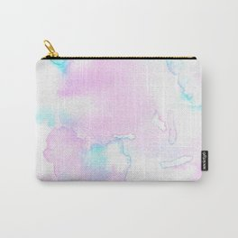 Cotton Candy Ink Blot Carry-All Pouch