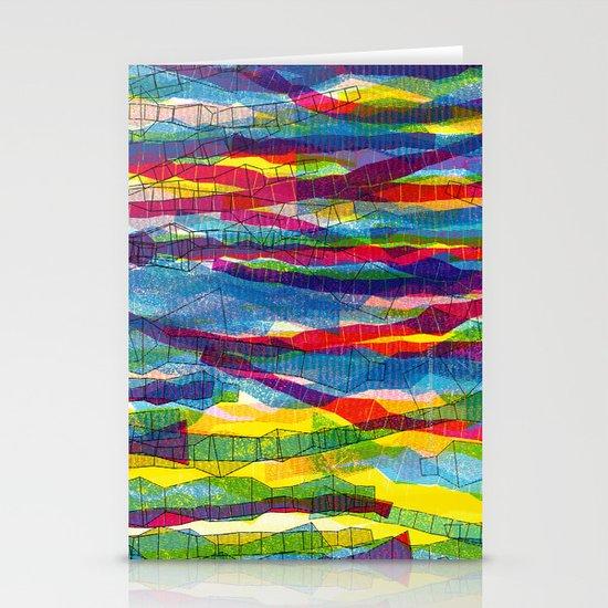 stripes traffic Stationery Cards