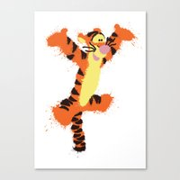 tigger Canvas Prints featuring Tigger by DanielBergerDesign