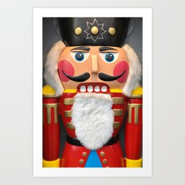 Nutcracker Christmas Design - Illustration Art Print