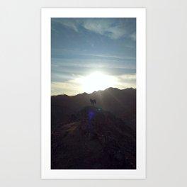 Dahab mountains Art Print