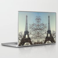 90s Laptop & iPad Skins featuring The 90s in Paris by MarioGuti