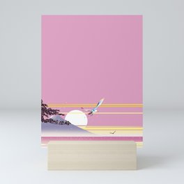 Seagull of morning glow Mini Art Print