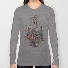 selena illustration Long Sleeve T-shirt