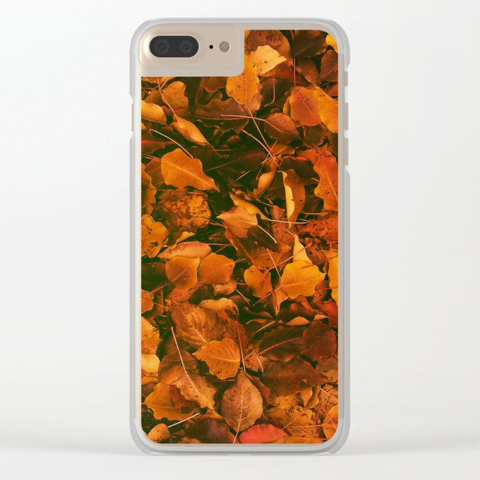 DRY LEAVES Clear iPhone Case