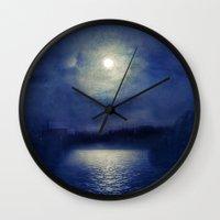 magnolia Wall Clocks featuring Magnolia by Viviana Gonzalez