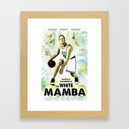 The White Mamba I Framed Art Print