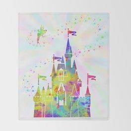 Castle of Magic Kingdom Throw Blanket