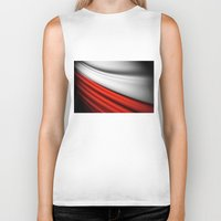 poland Biker Tanks featuring flag of Poland by Lulla