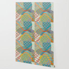 Triangle Pattern No. 11 Circles Wallpaper