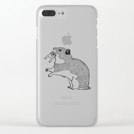 Mother Hamster Carrying Her Baby Clear iPhone Case