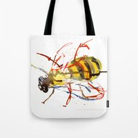 bee Tote Bags featuring Bee by Lauren Thawley
