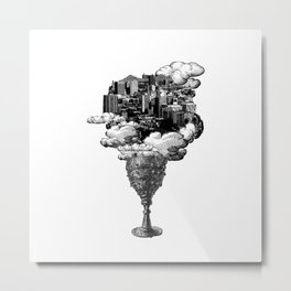 city of cups Metal Print
